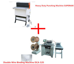Electric Heavy Duty Punch Machine and Double Wire Binding Machine pictures & photos