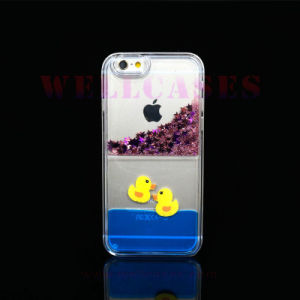 Liquid Glitter Powder Quicksand Yellow Duck Phone Cover/Case for iPhone 5/6/6plus