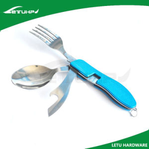 Multi-Function Stainless Steel Spork with Anodized Aluminum