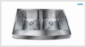 Handmade Double Bowl Apron Stainless Steel Sinks (AC2003) pictures & photos