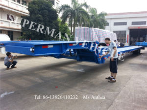 Airport Bus Use Gooseneck Lowbed/ Lowdeck/ Lowloader Transport Trailer pictures & photos