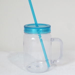 16oz Plastic Mason Jar with Straw Dn-102 pictures & photos