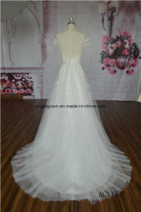 Guangzhou A-Line Bridal Gowns Beaded Lace Wedding Dress OEM pictures & photos