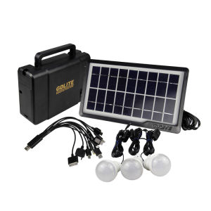 5W Mini Home Lighting System with 3PCS LED Bulbs, 10-in-One Cable