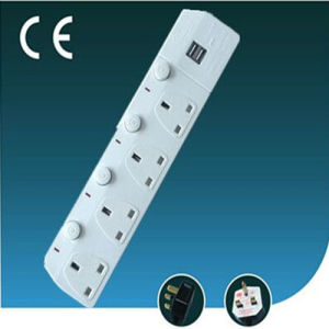 UK Standard Four Way Extension Switch Socket
