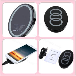 Qi Mini Portable Wireless Charging Pad Mobile Charger with USB