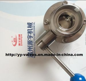 Sanitary Butterfly Valve with DIN Thread Connections pictures & photos