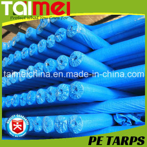 50GSM Royal Blue Color PE Tarpaulin Fabric Rolls pictures & photos