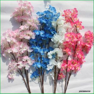 Cheap Silk Artificial Flowers Fake Pear Blossom for Home Wedding Decoration