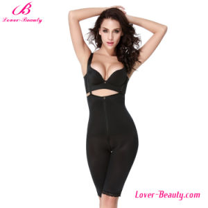 Hot Chic Zipper Black Strappy High Waist Body Shaper Underwear
