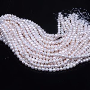10mm 11mm Wholesale Freshwater Pearl Egg Shape Strand pictures & photos