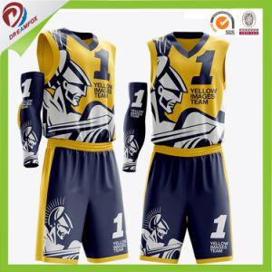 48a06b70d90 China Digital Print Custom Reversible Basketball Jersey - China ...