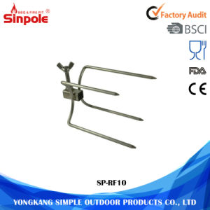 Good Quality Convenient Portable Stainless Steel BBQ Rotisserie Fork pictures & photos