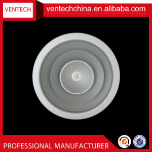 Air Conditioning Aluminium Round Ceiling Diffuser Air Diffuser with Dampers pictures & photos