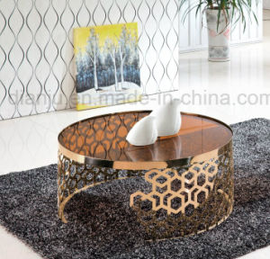 Special Design Rosegold Stainless Steel Glass Coffee Table (CT098L)