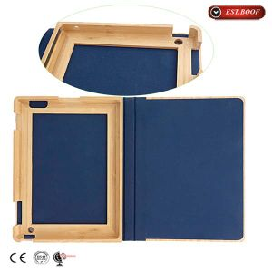 PU Leather Case Cover Box iPad Wood Mobile Phone Accessories