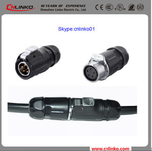 Cnlinko Brand 5pin Electrical Connector Power Application IP65 Plug and Socket for Outdoor LED Display pictures & photos