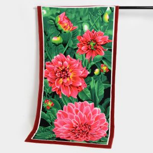 Microfiber Beach Towel with Beautiful Flower Printing, Cotton Beach Towel pictures & photos