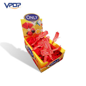 Attractive Design Small Cardboard Counter Display Carton Candy Pop Display
