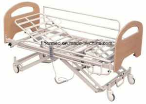 Electrical Nursing Home Bed with Collapsible Side Rails pictures & photos