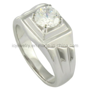 Stainless Steel 18k Gold Plated Diamond Ring Casting Jewelry pictures & photos