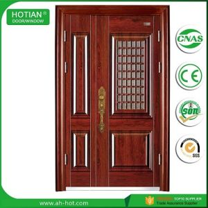 Indian Main Gate Designs Wrought Iron Doors In Thickened 0 7mm Metal Skin With Stainless Steel