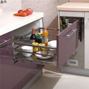 Hot Selling Kitchen Accessories Stainless Steel Pull-out Basket pictures & photos