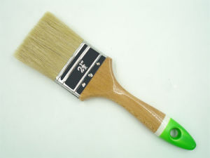 Popular Wooden Handle White Bristle Paint Brush pictures & photos