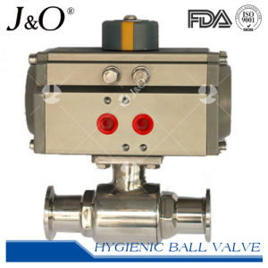 Hygienic Pneumatic Ball Valve Thread with Visual Control Head pictures & photos