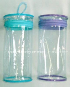 Cylinder PVC Bag With Zipper Close For Packing Toy