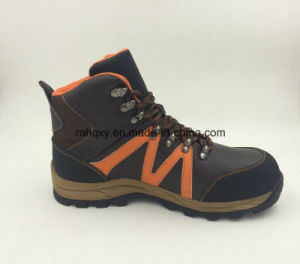 Sports Style Split Embossed Leather Safety Shoes Outdoor Shoes (16053) pictures & photos