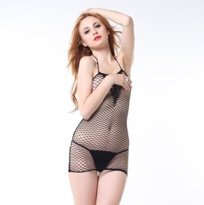 Woman Halter Neck Fishnet Sexy Chemise pictures & photos