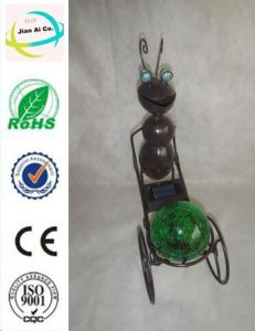 Metal Ant Shape Solar Power Lamp Crafts for Home Decoration