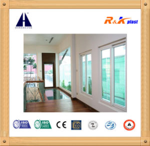 Engergy Saving Double Glass UPVC Profile Sliding with Grilles, PVC Window From China Manufacturer