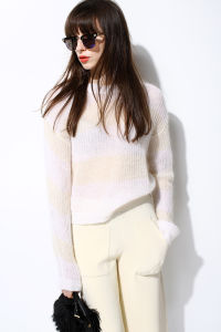 New Mohair Soft Knit Pullover Sweater for Ladies pictures & photos