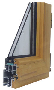 Aluminum with Wood Cladding Windows (58/73 SERIES)