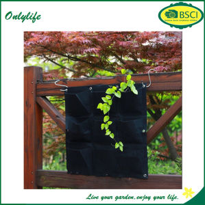 Onlylife Felt Fabric Outdoor Garden Vertical Wall Planters pictures & photos