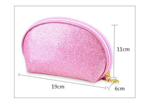 Glitter Leather Wristlet Cosmetic Bag pictures & photos