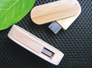 Swivel USB Flash Drive - Wooden Style (UD094)