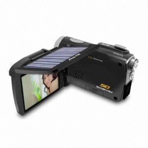 "12MP Solar Digital Video Camcorder with 3"" Ltps Screen and Solar Panel"