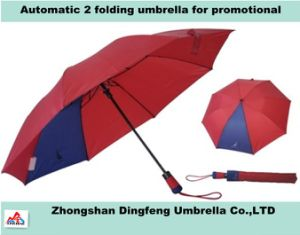 Auto Open 2 Fold Umbrella, 28inch 2 Folding Promotional Umbrella