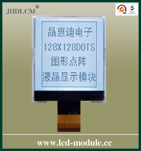 High Resolution LCD Module with Good View Angle (JHD128128-G03BSW-G)