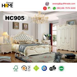 European Antique Furniture Wood Bedroom Set (HC905)