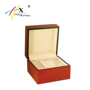 Red Wood Finish Matte Lacquer Single Wooden Watch Box pictures & photos