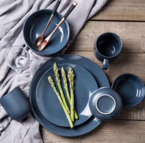 High Quality Simple Unique Tableware Set - Cyan Color Ceramic China Dinnerware Set & High Quality Simple Unique Tableware Set - Cyan Color Ceramic China ...