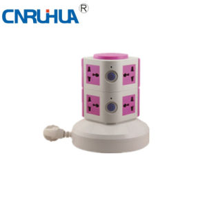 New Style High Qualtiy Household Two-Layer 8-Way Vertical Floor Socket pictures & photos