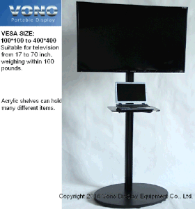 "Exhibition Monitor Stand 17"" to 65′ Televisions Portable Display Products"