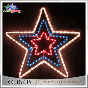 outdoor decorative wire decoration led christmas star string lights