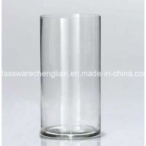 Clear Hand Made Glass-Vase (V-035) pictures & photos