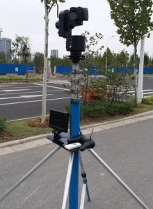 30 FT Telescopic Pole Endzone Camera System High Video Tower System Hand  Drive Pan Tilt Head 9m High